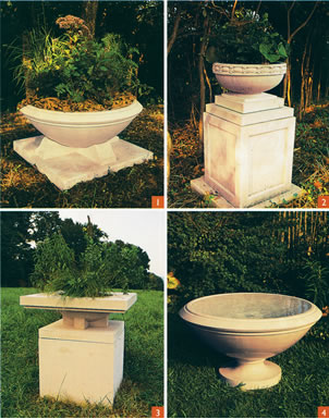 Awesome Porous Cast Stone Does More Than Help Planters Survive Freezing  Temperatures; It Also Keeps Plant Roots Cool And Moist On Hot, Dry Days.  For The Pots Above, ...