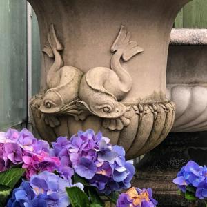 Dolphin Urn Vintage #longshadowplanters #longshadowvintage #gardendesign